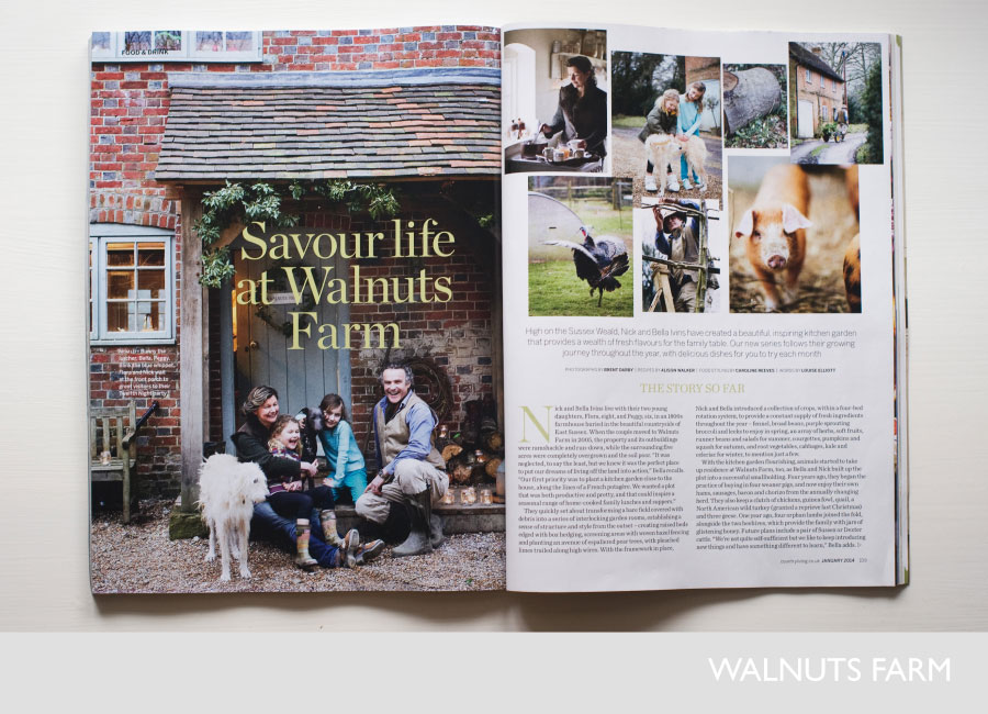 Savour life at walnuts farm with nick and bella in country for Country living magazine recipes